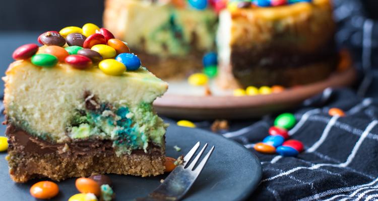 M&M's cheesecake