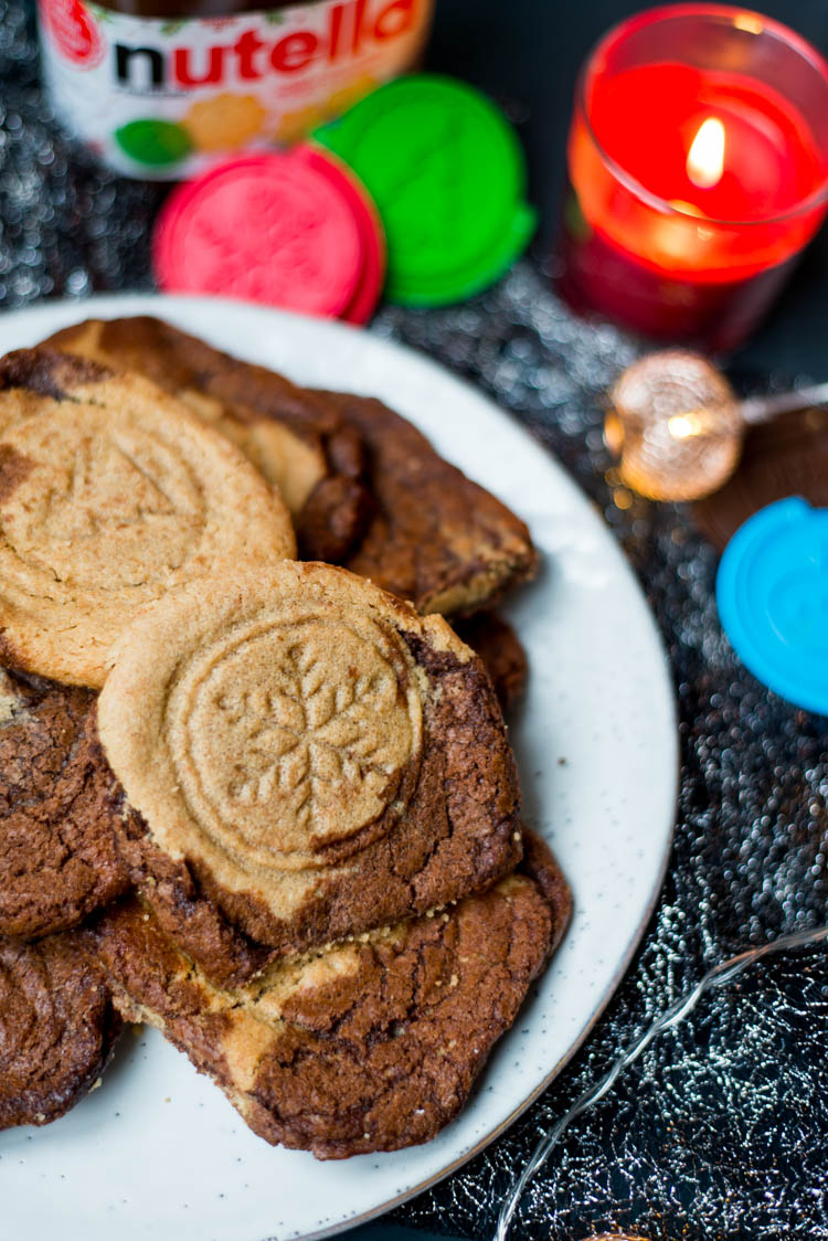 Pindakaas-Nutellakoekjes voor Kerst