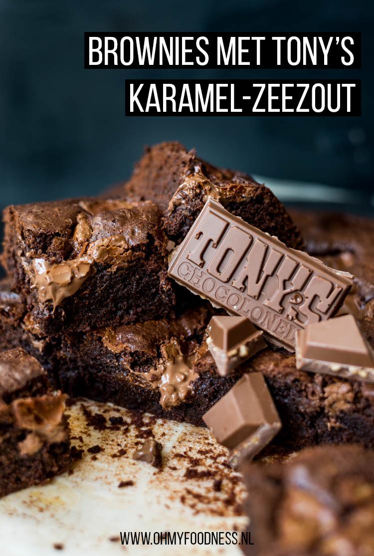 Brownies met Tony's karamel-zeezout