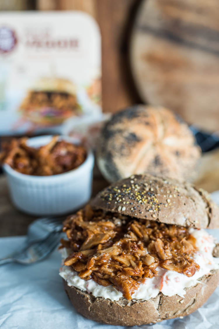 Broodje vegetarische pulled pork