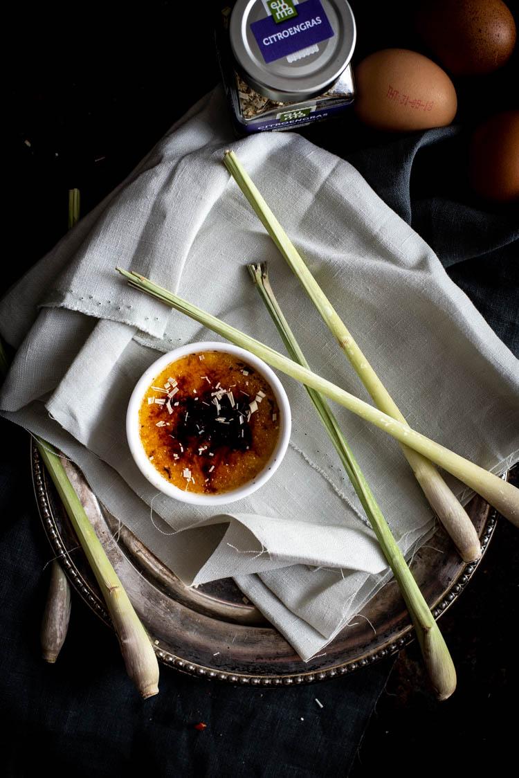 creme brulee met citroengras
