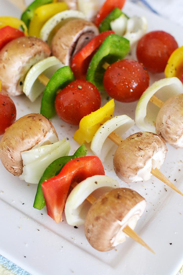 BBQ groentespiesjes