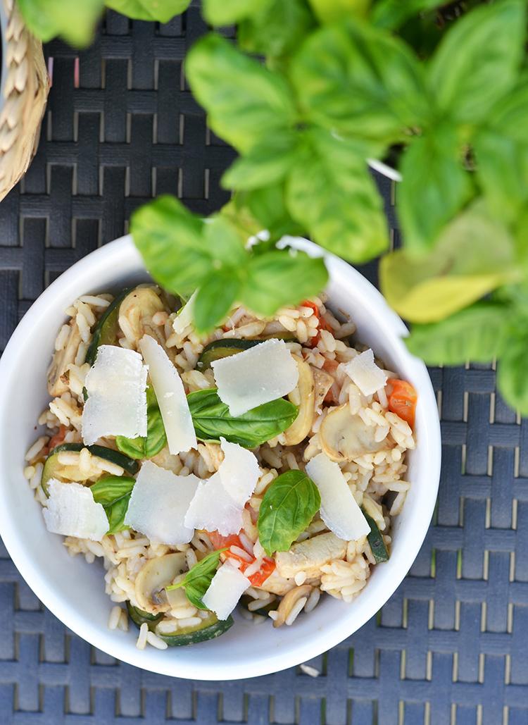Mediterraanse rijstsalade