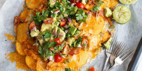 BBQ-chicken nacho's