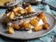 Desserttaco's met kaneelijs en gekarameliseerde appel