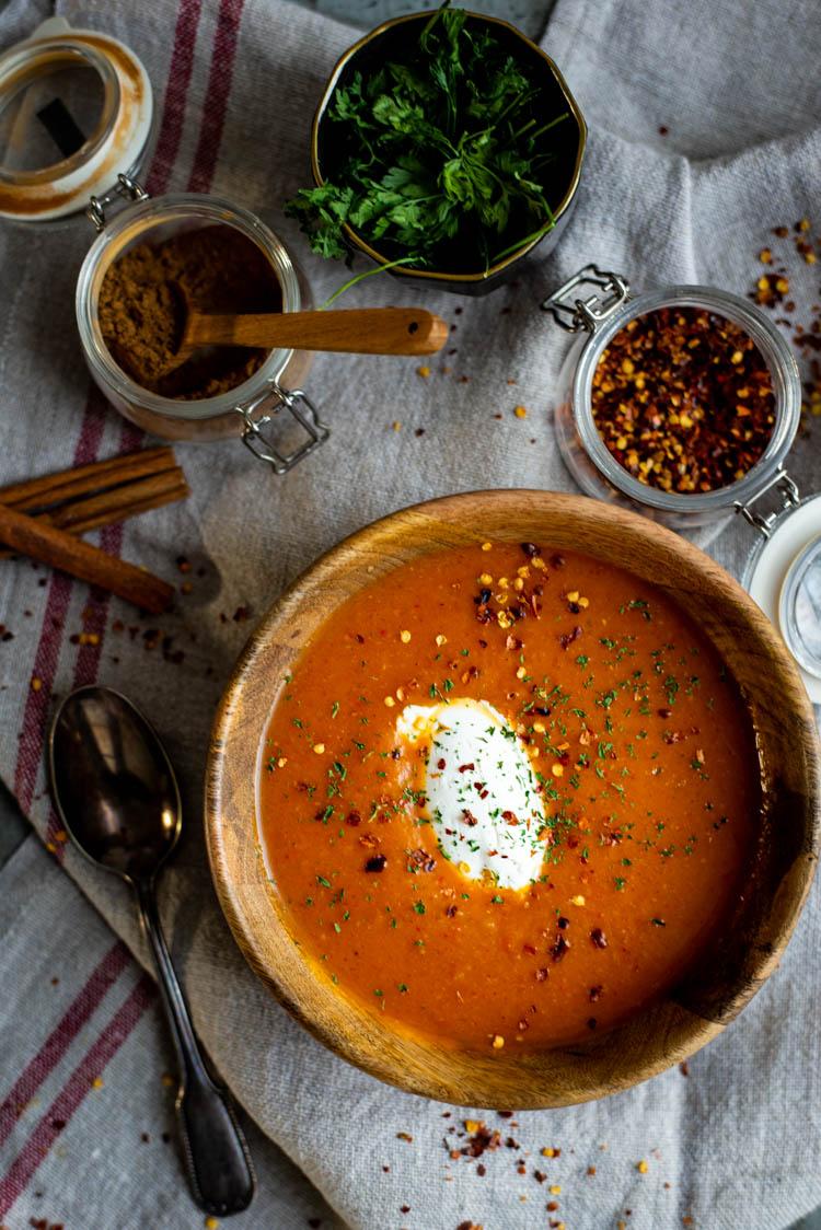 Geroosterde pompoensoep met pumpkin spice
