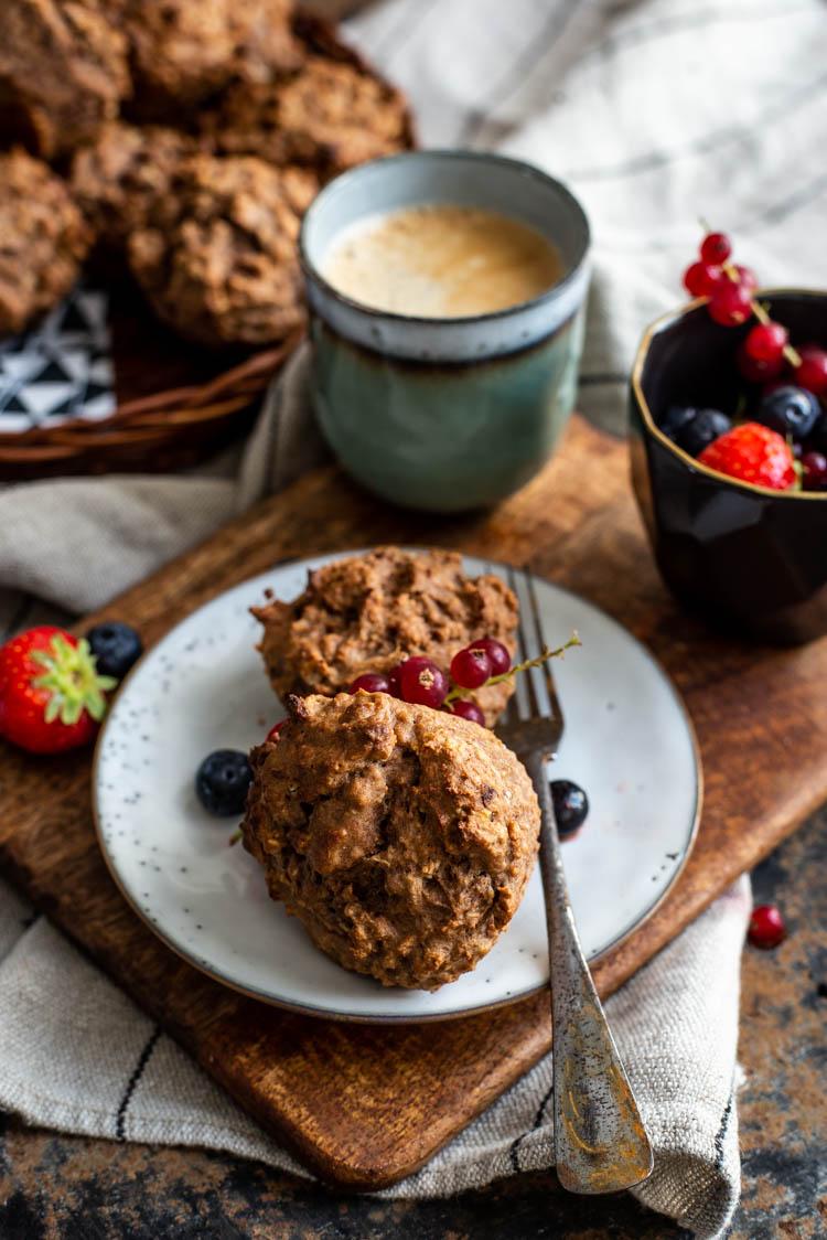 Koffie-havermout ontbijtmuffins