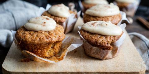 Pompoenmuffins met pumpkin spice mascarpone