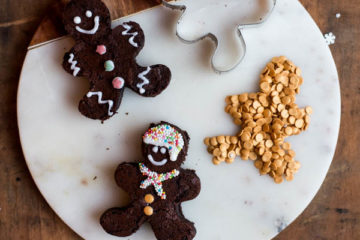 Gingerbread man brownies