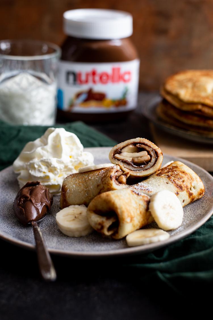 Banaanpannenkoeken met Nutella