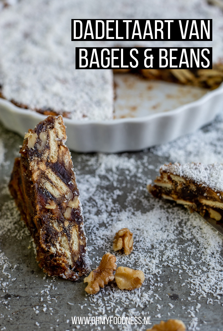 Dadeltaart van Bagels & Beans