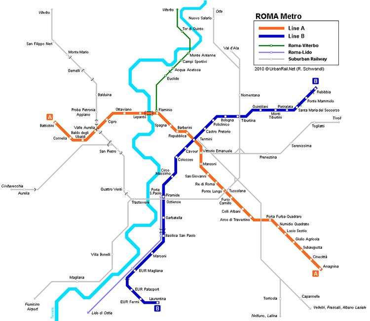 Metrokaart Rome