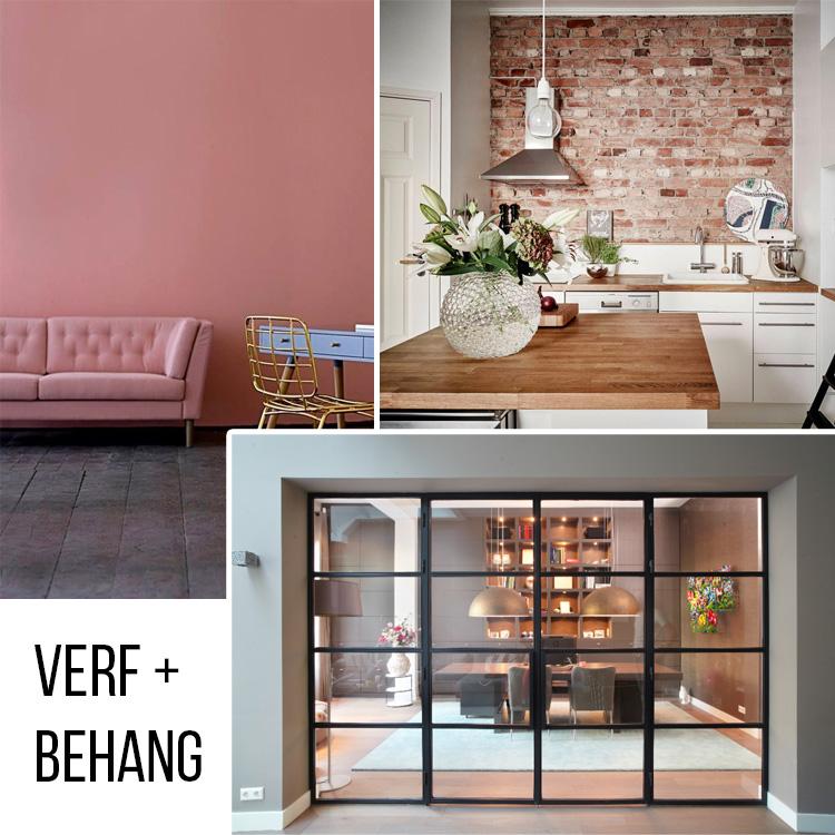 Moodboard kantoor: verf + behang