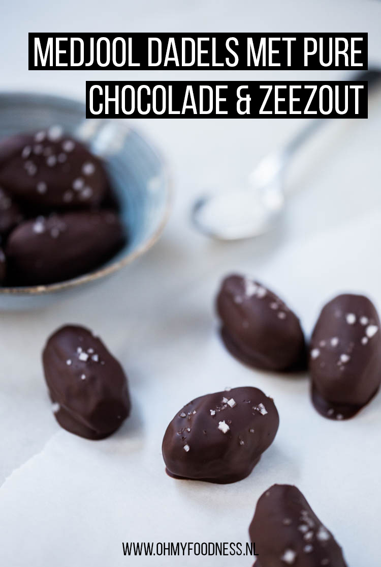 Medjool dadels met pure chocolade en zeezout