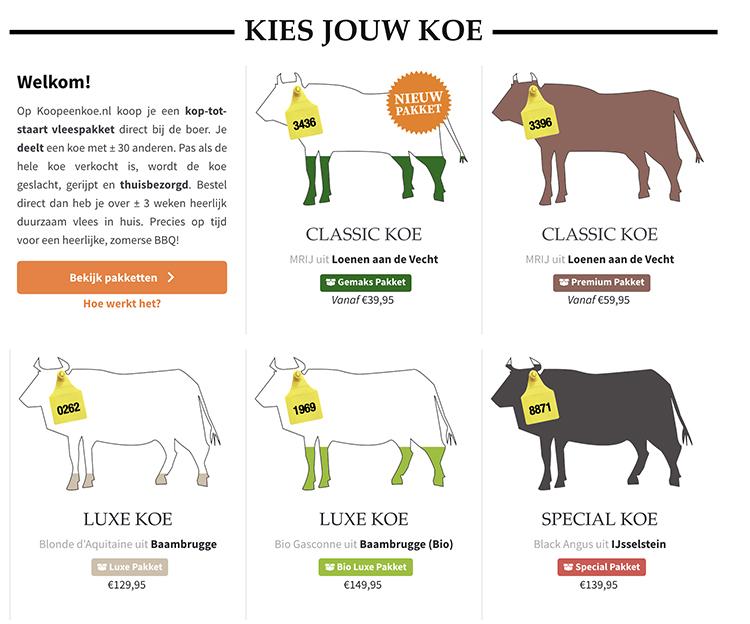 Koop een koe - koeien