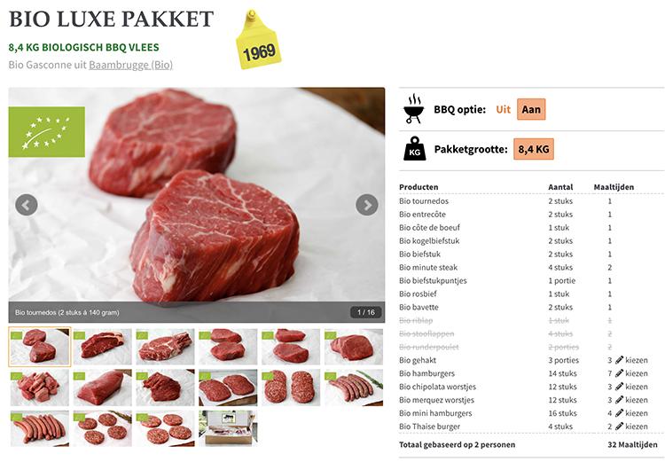 Koop een koe - vleespakket
