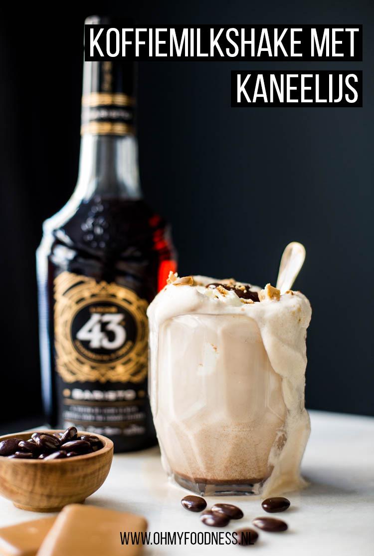 Koffiemilkshake met kaneelijs