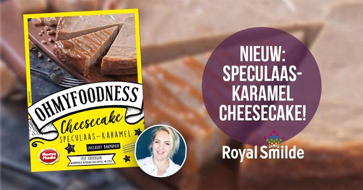 Speculaas-karamel cheesecake
