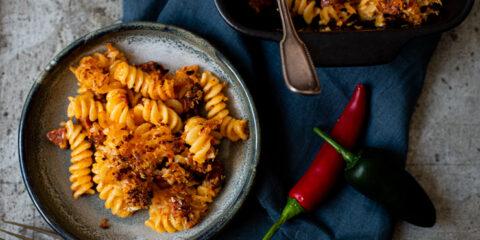 Jalapeno Mac & Cheese met chorizo