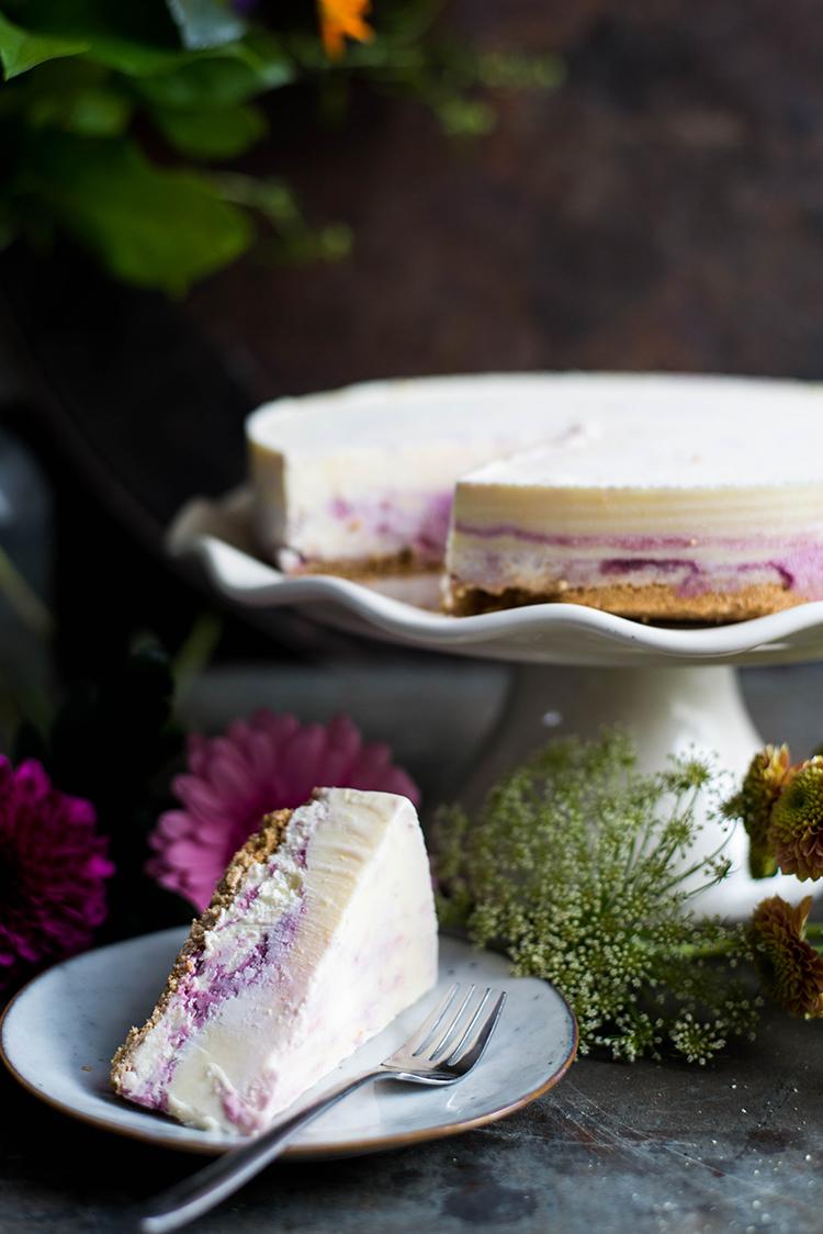 Cheesecake-ijstaart