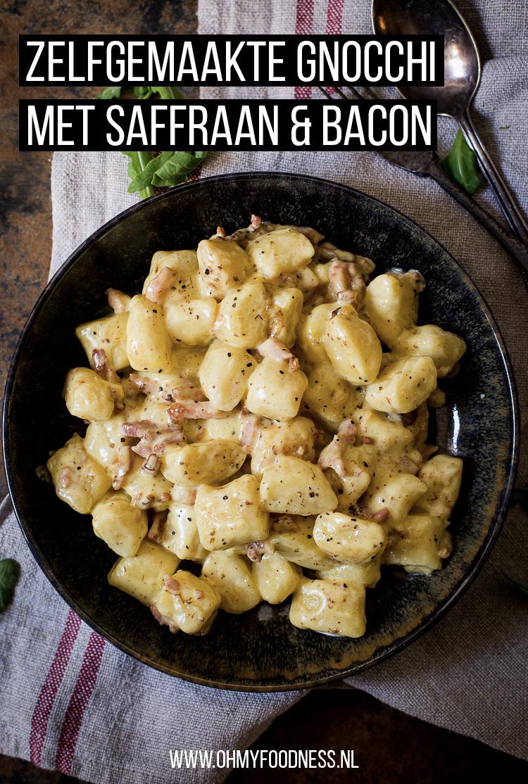 Zelfgemaakte gnocchi met saffraan en bacon