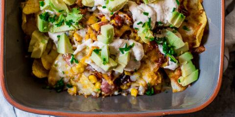 Bacon & Mais nacho's