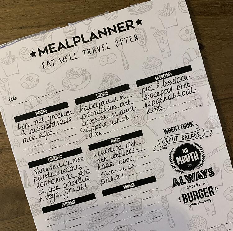 Eetplanning - OMF mealplanner