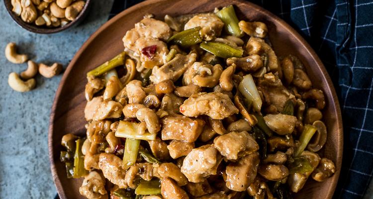 Kip cashew uit de slowcooker