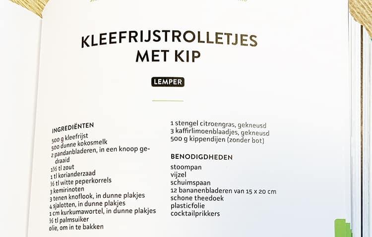 Lemper Ingrediëntenlijst