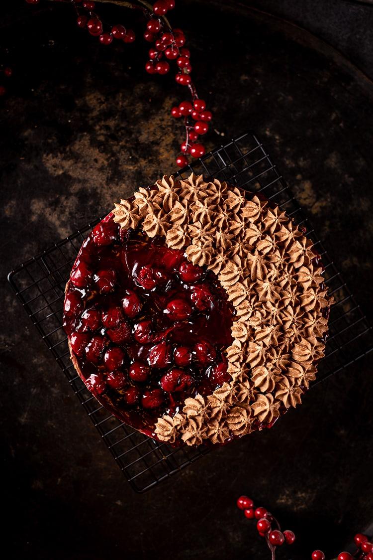 Chocolade-kersencheesecake