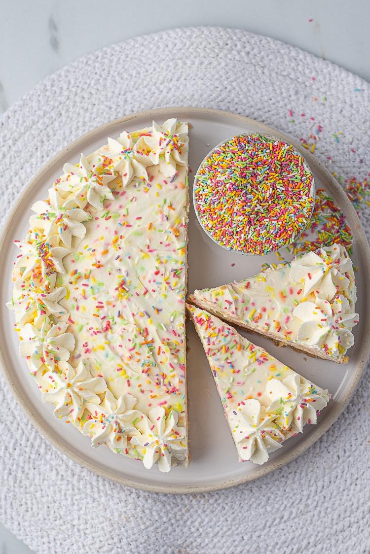No bake Birthday Cheesecake