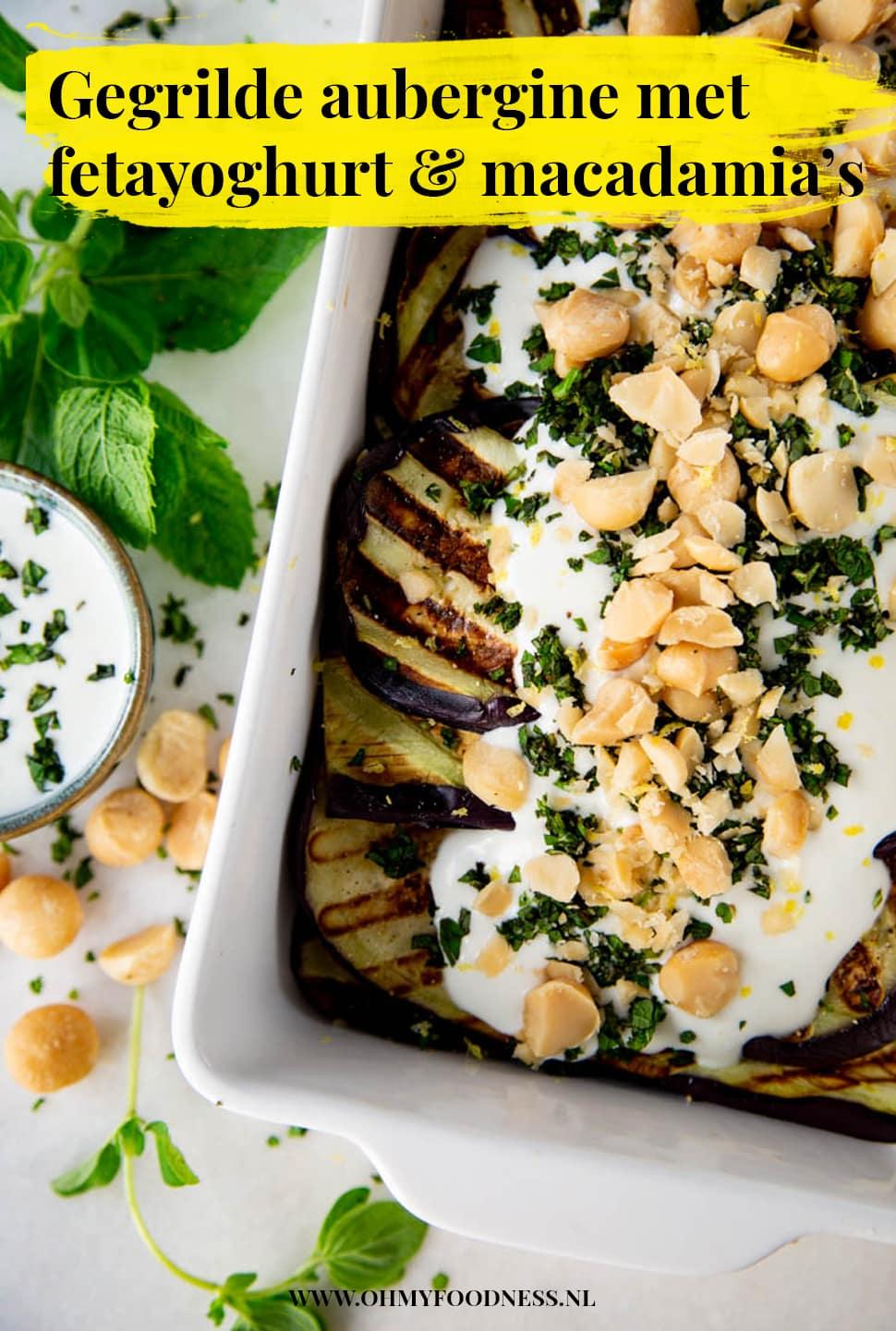 Gegrilde aubergine met fetayoghurt