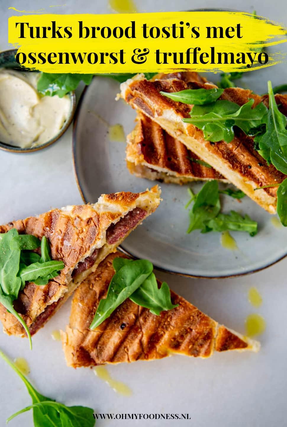 Turks brood tosti met ossenworst & truffelmayonaise
